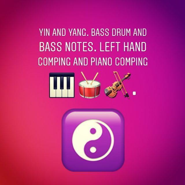 Rhythm Section Concepts. Balance.