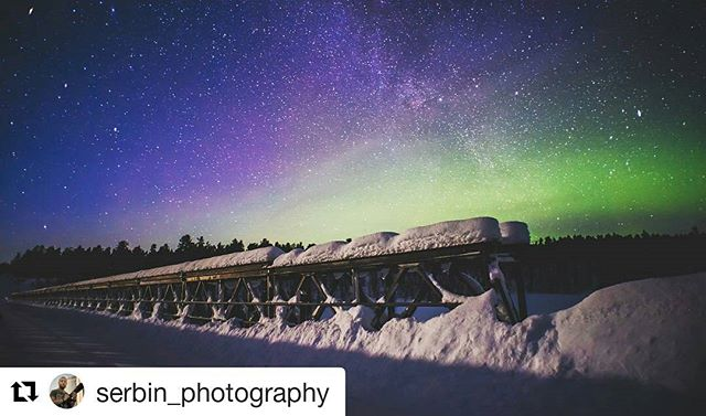 Do you think you could get tired of seeing this view😍? We never do. Thank you again Serbin for an amazing photo from Aurora Hunt 🙏. #Repost @serbin_photography (@get_repost) ・・・ I'll never get used to this amazing views!)))) #finland #lapland #timetravelsclub #arctictimetravels #aurora #northernlights #amazingview #nature #stars #milkyway #aurorahunting #winter #polar  #nightsky #magiclapland #travelphotography