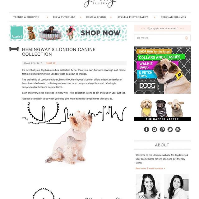Lovely write up from the lovely @pretty_fluffy ❤on our inaugural collection......stockists updates coming soon!! 😍#dogs #love #dogcoats #fashion