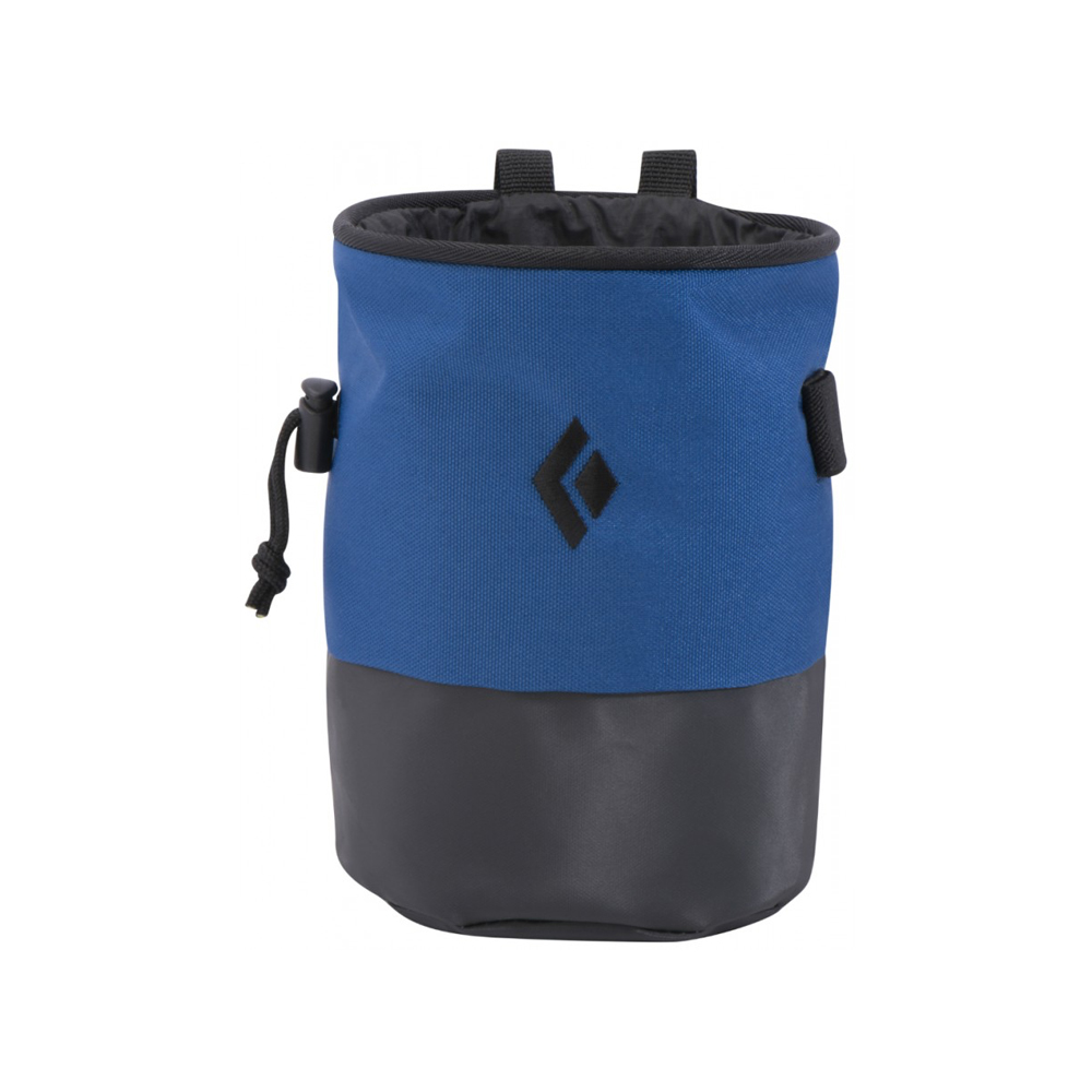 Black Diamond Mojo Zip The Black Diamond Mojo Zip is a perfect chalk bag for a climber on a budget. It's about $16 and is extremely durable and holds a good amount of chalk. What more do you need?