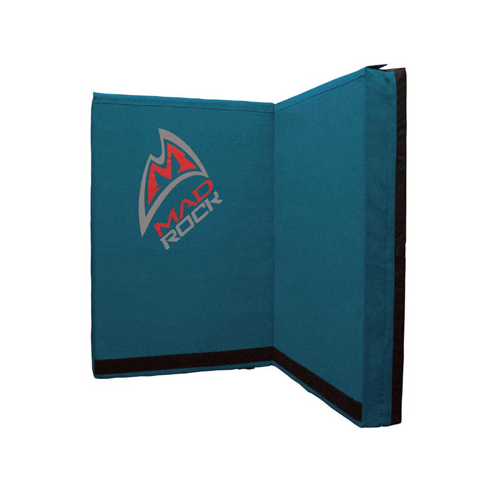 Mad Rock Mad Pad   This crash pad may be the cheapest pad available! It is also the most sold crash pad on the market. At about a third of the cost of most competitors, this pad will keep you safe with most boulder problems.