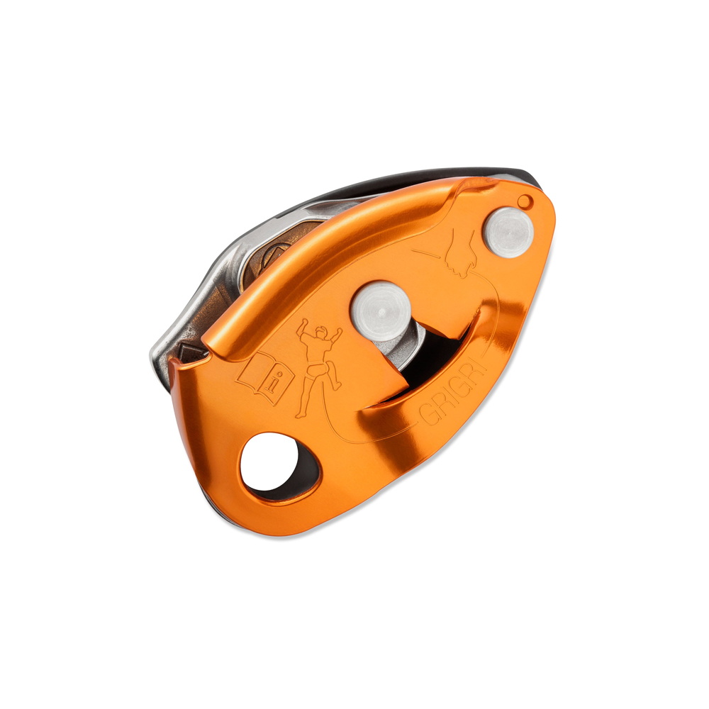 Petzl Gri Gri 2 A must have if you want to sport climb often! The Gri Gri 2 ensures the most safety possible if your belay were to get struck by falling debris or become incapacitated. It is obviously more expensive than just using an ATC, but this thing could save your life!