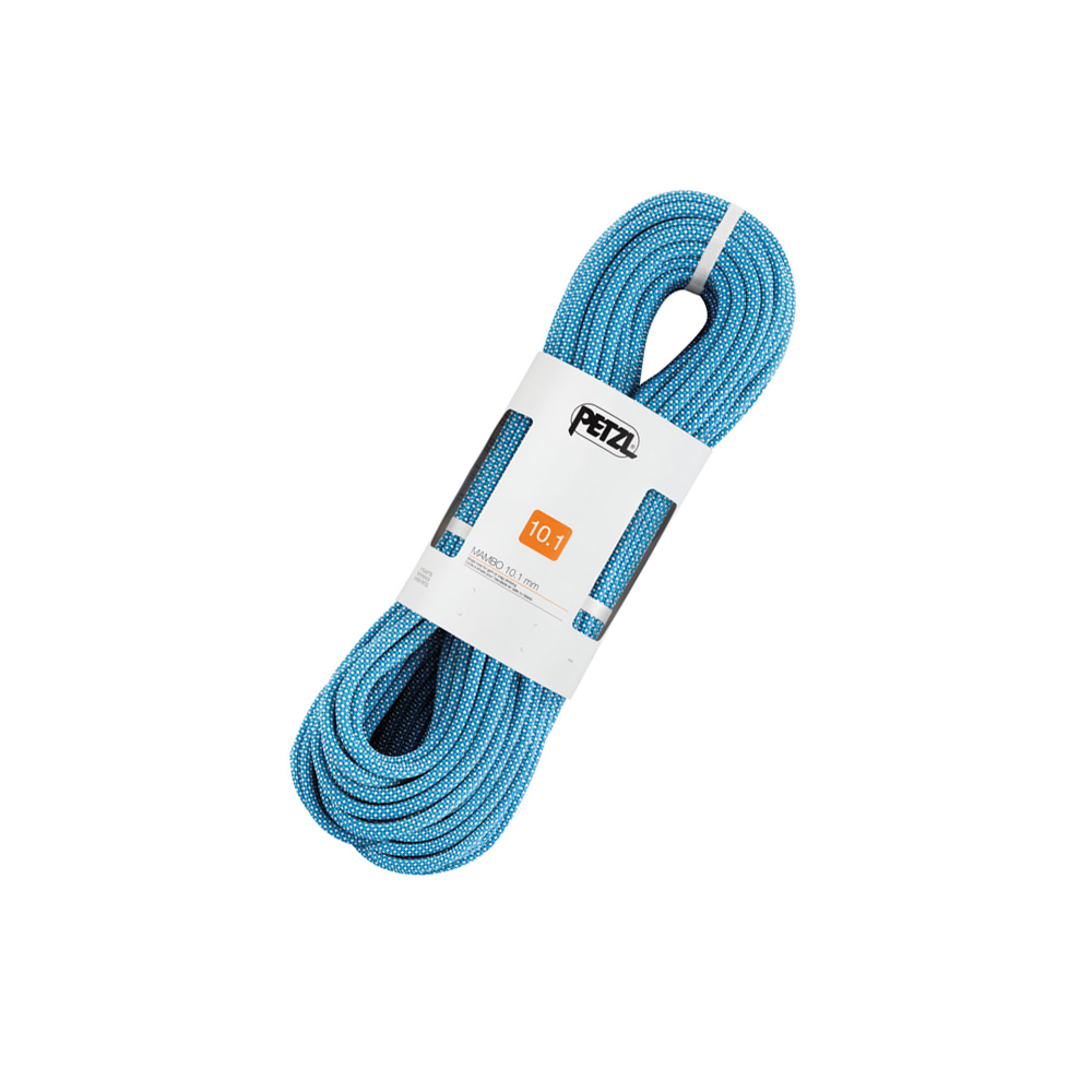 Petzl Mambo 10.1mm This is a great rope if you're looking for your first one! Being 10.1mm this rope will surely last you a long time, and is perfect for indoor and outdoor use. It's added thickness sustains this ropes life and ensures you that you'll get your money's worth.