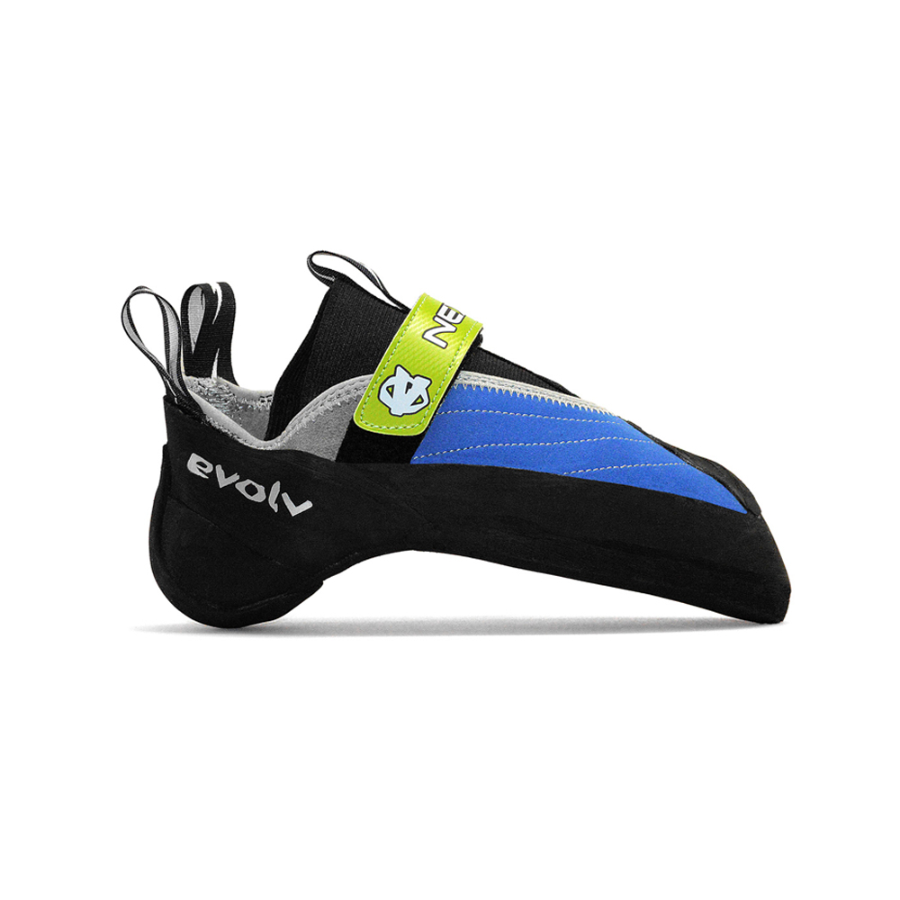 Evolv Nexxo The Nexxo is a great performance climbing shoe for tough overhanging boulder problems. It is one of the most aggressive shoes on the market, and is relatively cheap compared to its competitors.