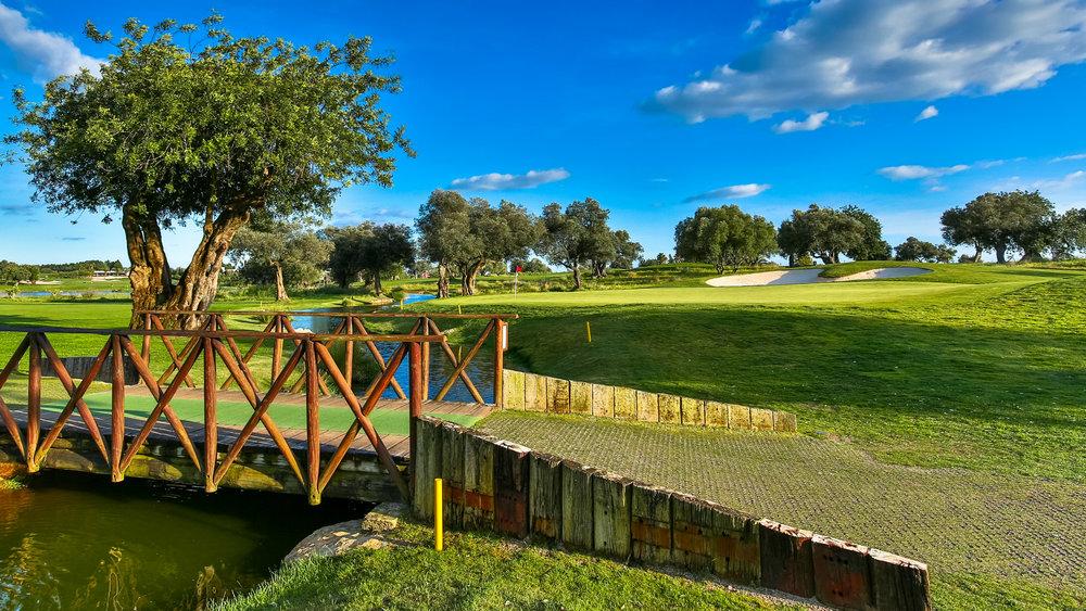 Quinta da Ria  – pole z niezwykłymi widokami, położone nad brzegiem Oceanu Atlantyckiego i graniczące z rezerwatem Ria Farmosa. W większości płaski teren pola daje możliwość gry każdemu, niezależnie od stopnia zaawansowania.