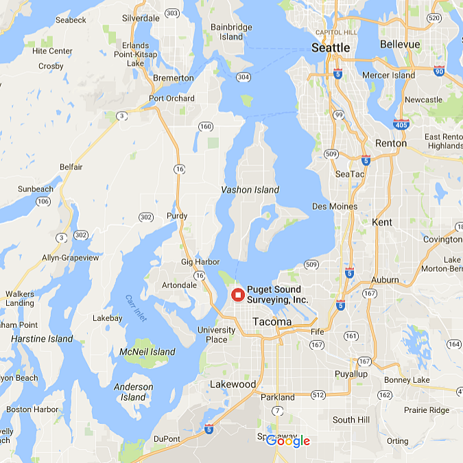 Contact Puget Sound Surveying Inc - Puget-sound-on-us-map
