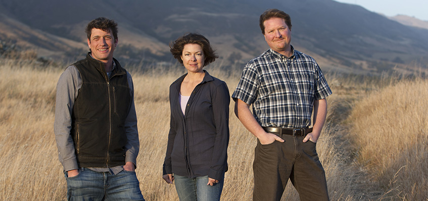 From left: Jeremy Leffert, Mindy Oliver and Chris Steins