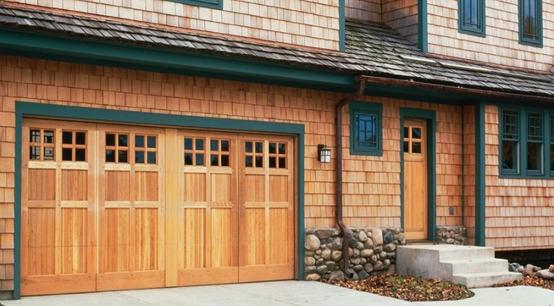 Architectural Harmony™ matching entry door and double wide garaged door