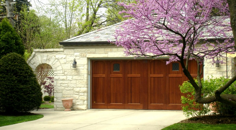 Custom Designed Wood Garage Door With A Patent Pending Simulated Center Post