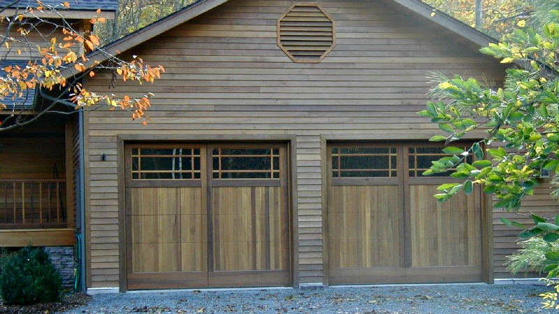 Craftsman and Bungalow style custom designed wooden doors
