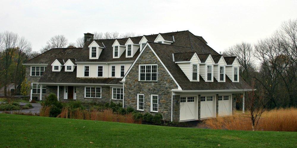 New England style garage doors