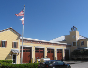 Boca Grande's Public Safety building, built in 2004, boasted five huge wood garage doors measuring 12 ft x 14 ft high. The roof leaked a little, but the Hurricane proof garage doors stood strong.