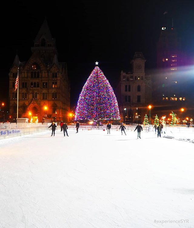 One of our favorite winter activities in Syracuse is ice skating in Clinton Square! The tree may be gone now, but the rink is still open! What's your favorite Syracuse winter activity? • • • #ExperienceSYR #Syracuse #snow #iloveny #nyloveswinter #sharesyr #winterwonderland #winterescape #iceskating #VisitSyracuse #cities #local #cny #CNYwinter #iheartupstate #thisisupstate #photography #photoamateur