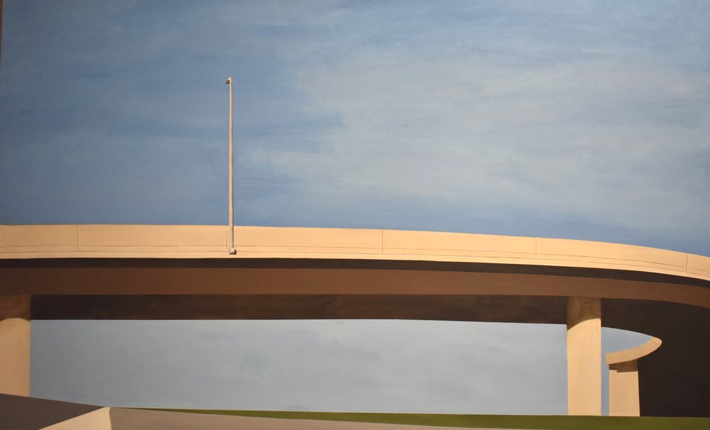 "IMMIGRATION ROAD  Oil on Canvas  44"" x 72"""