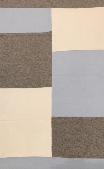 Colorblock Baby Blanket Blue