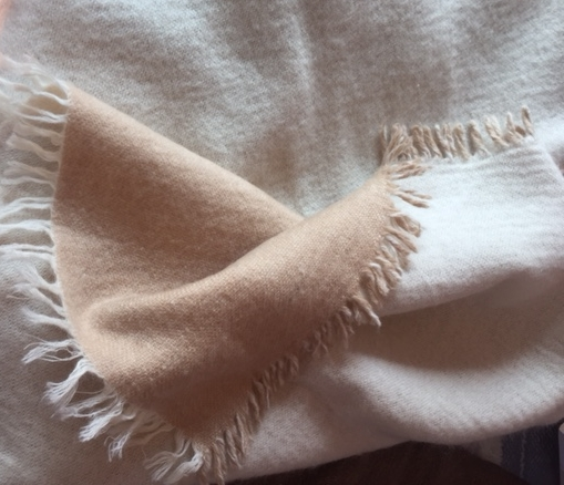 Reversible Blanket Chalk and Butterscotch
