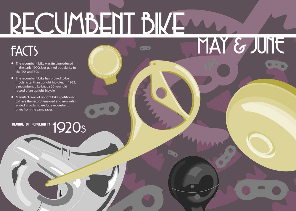 Bike Calendar Digital Illustration