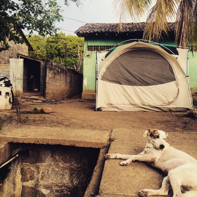 In Nicaragua, a slice of pizza sometimes comes with a safe place to tent up for the night.