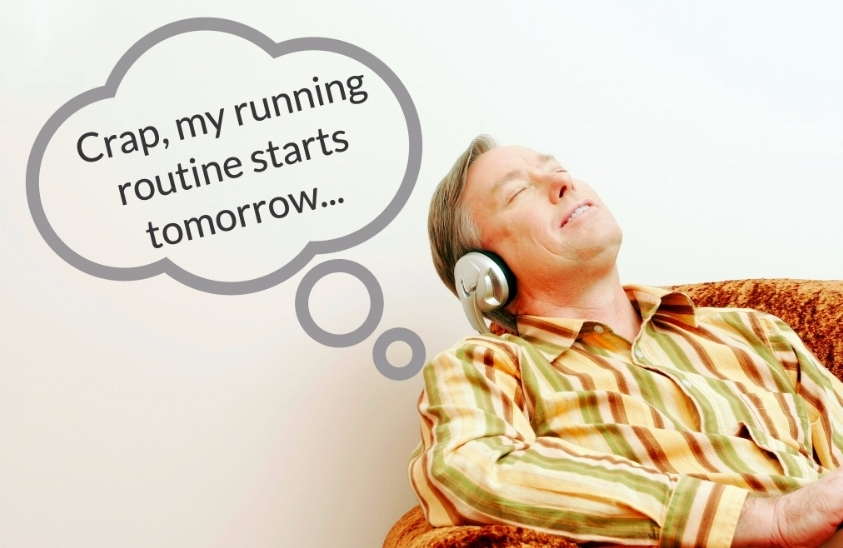 That's right stock photo man... tomorrow we whip your butt into shape.