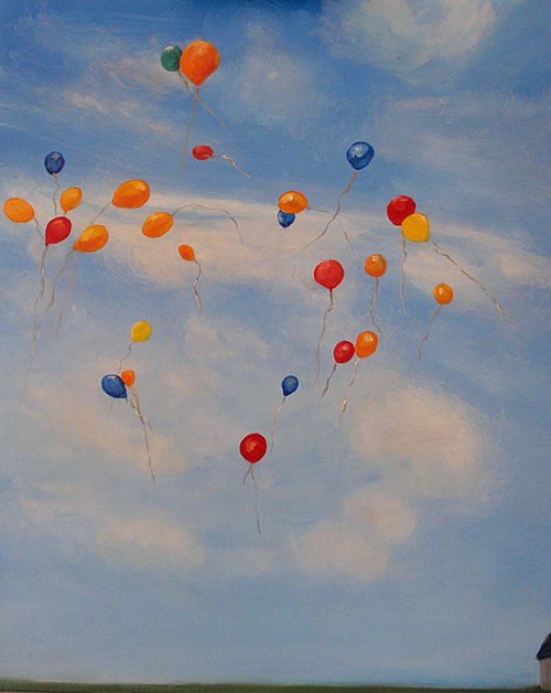 balloons balloon release sky clouds