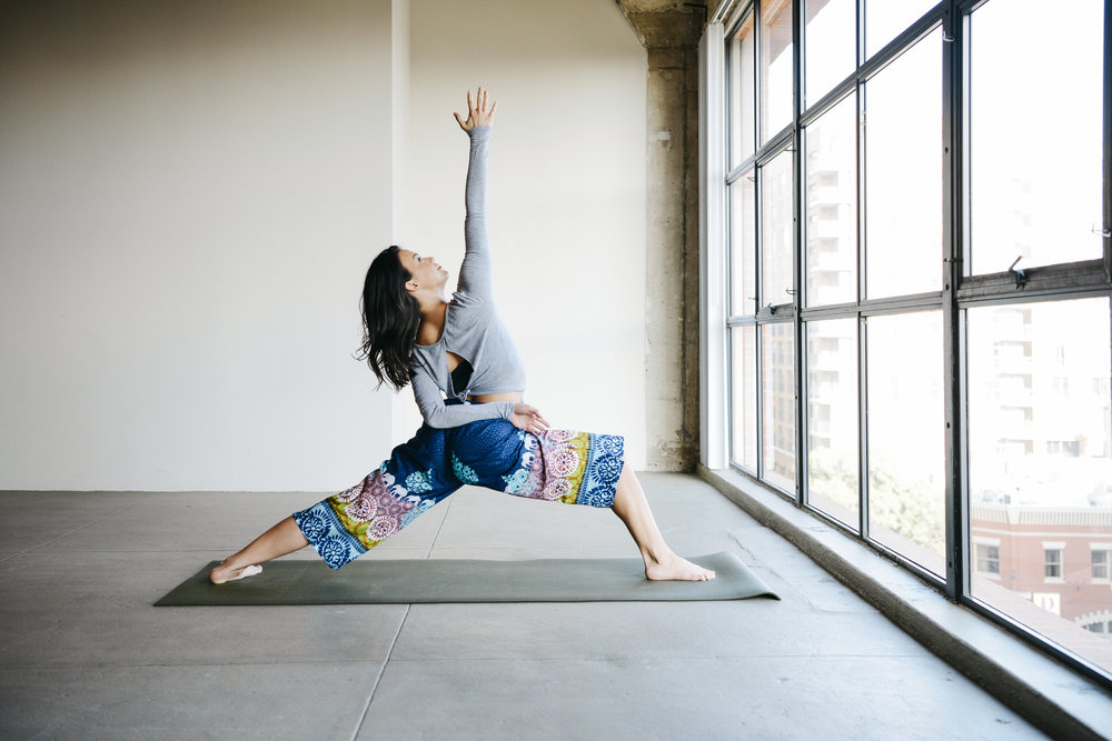"""NOTE - Said with a Jedi mind-trick wave of the hand: """"These aren't the yoga pants you're looking for..."""" (They're people doing yoga in comfy, stylish current Punjammies : )     Sudara hasn't released pics of the new yoga line quite yet... for that, follow @sudaragoods or, better yet, sign up for news and promos!   Those are the yoga pants you're looking for!   All Photos: Paula Watts Photography"""