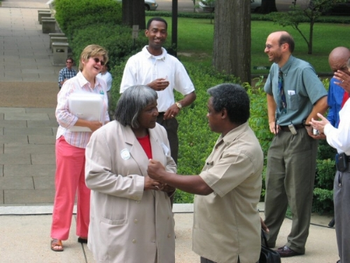 Port Gibson, Mississippi Mayor Amelda Arnold and Center President Norris McDonald Spoke at the Pro-Nuclear Rally on the State Capitol Steps (2005)