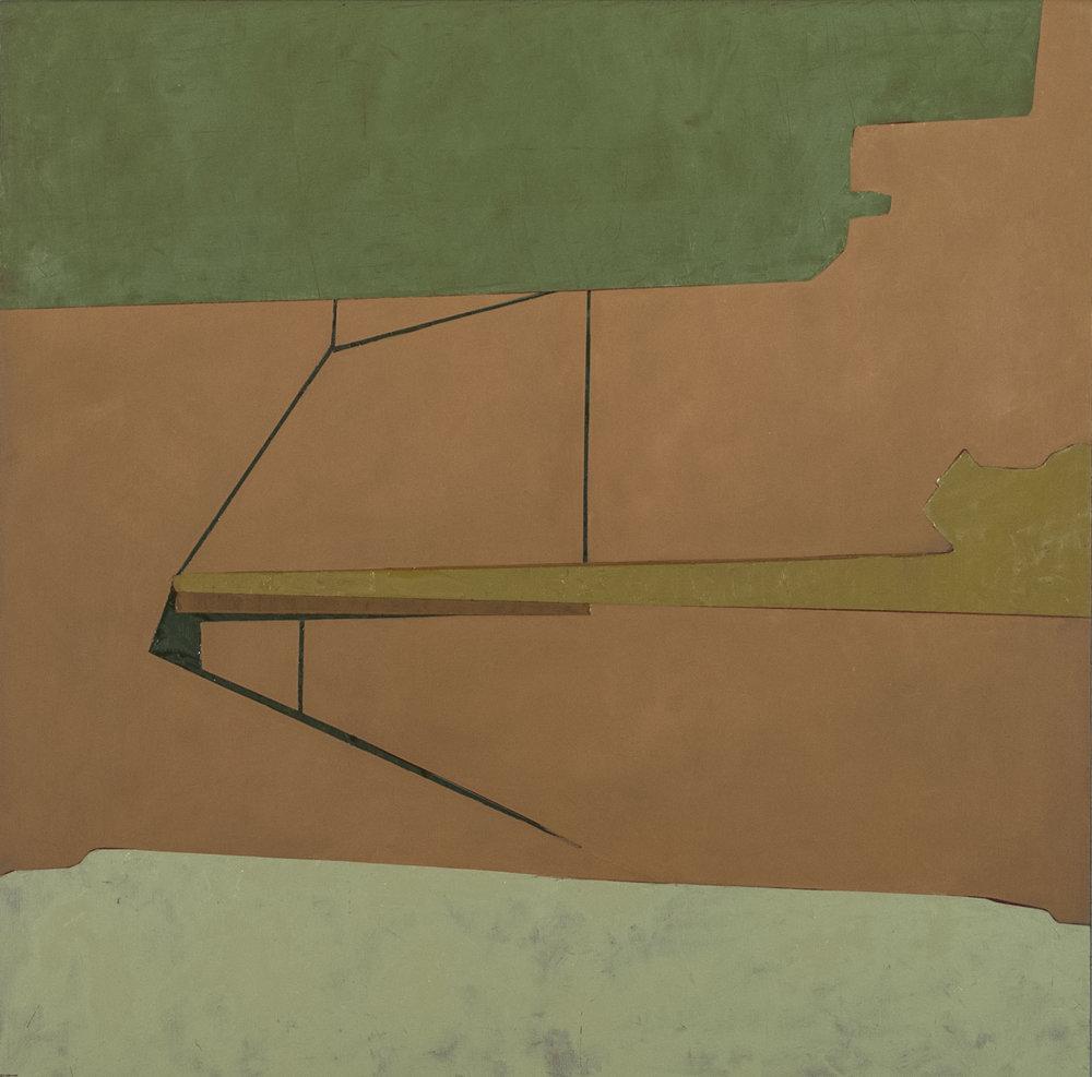 "SUBTLE CARTOGRAPHY: PEIR   oil on panel | 24"" x 24"" | 2016"