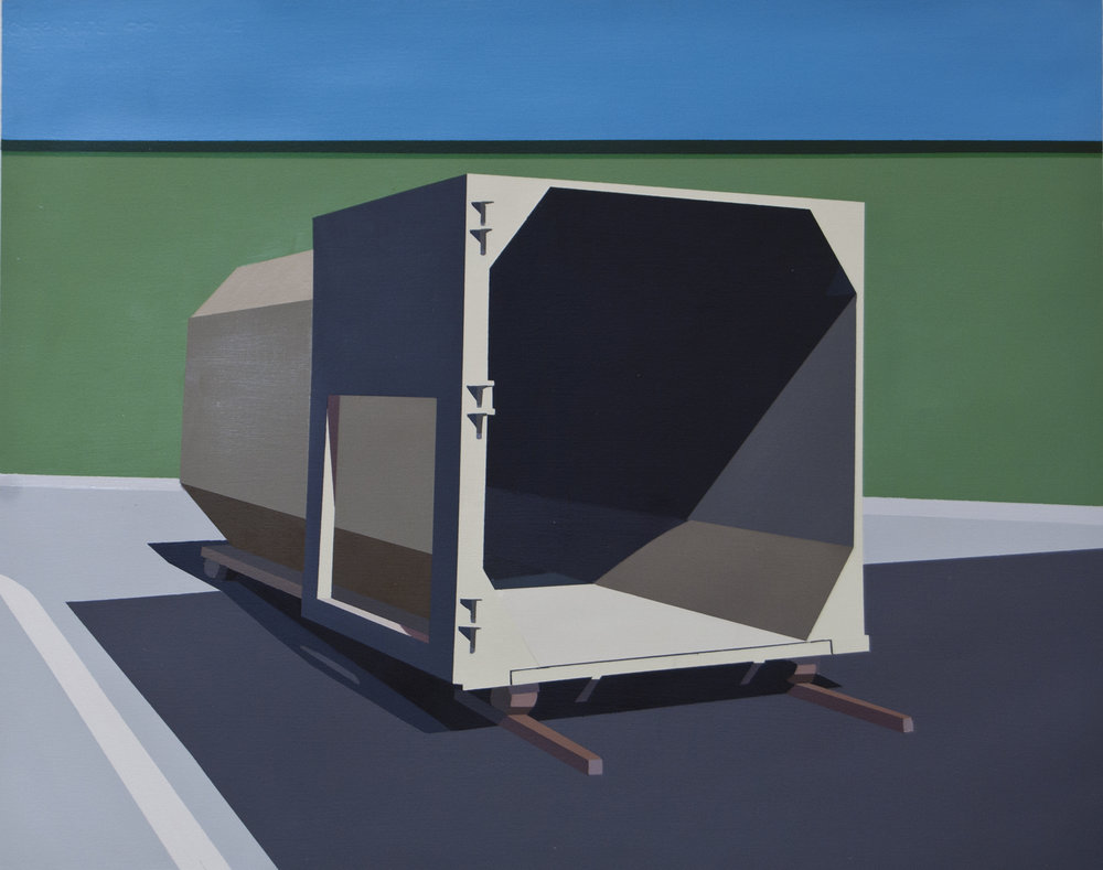 "STORAGE UNIT     oil on paper | 22"" x 26"" 2014"