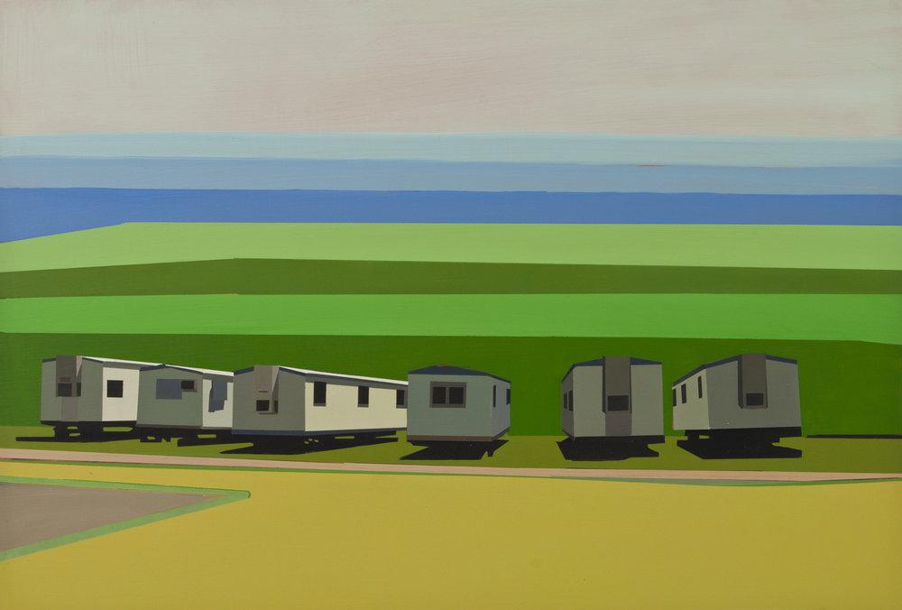 "STRANDED ARMADA     oil on panel | 14""x 18""| 2012"