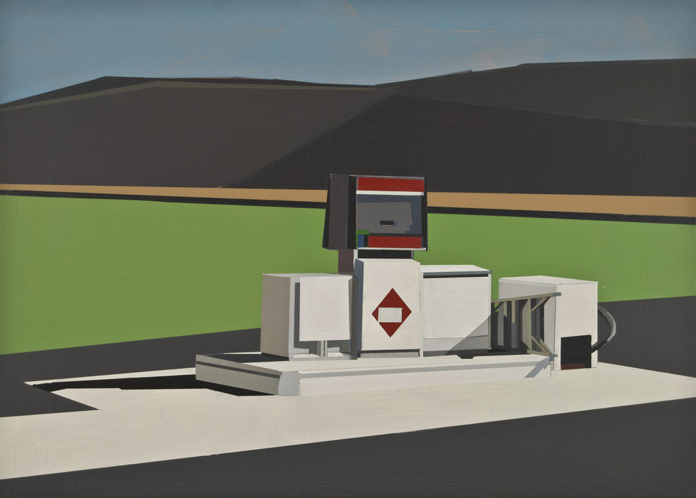 "SEWANEE: GAS PUMP   oil on panel | 10"" x 14"" 2012"