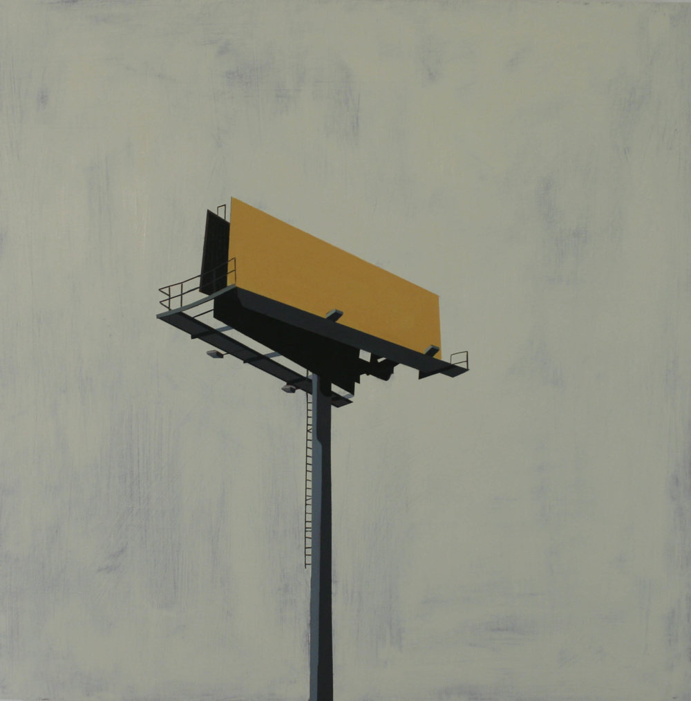 "MS028 BILLBOARD IN FLYING JIB   oil on panel | 24"" x 24""   2010"