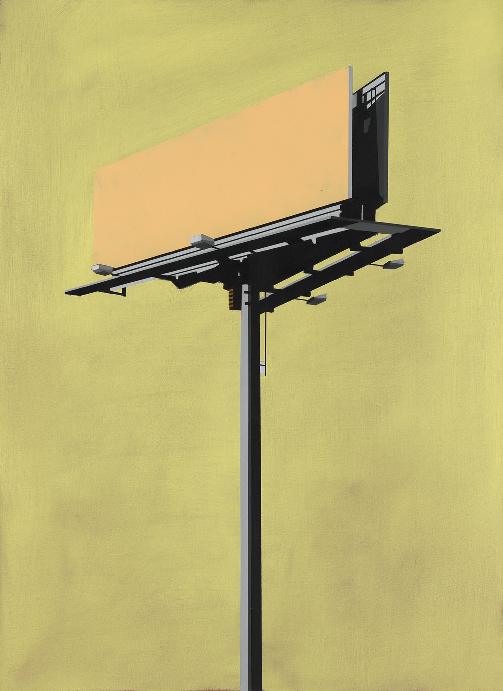 "CHEESE PUFF BILLBOARD IN SUMMER BLISS   oil on paper | 22"" x 30"" 