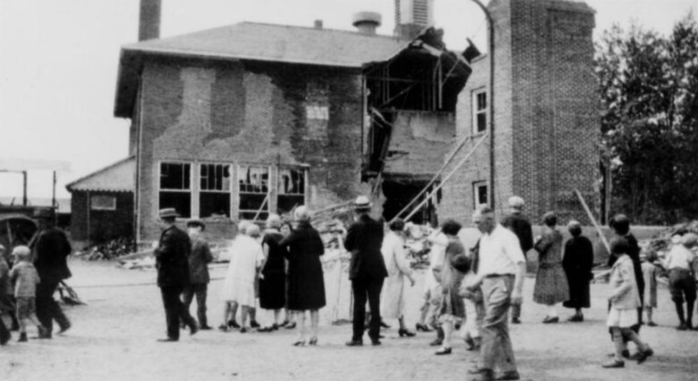 Bath Consolodated School After Bombing