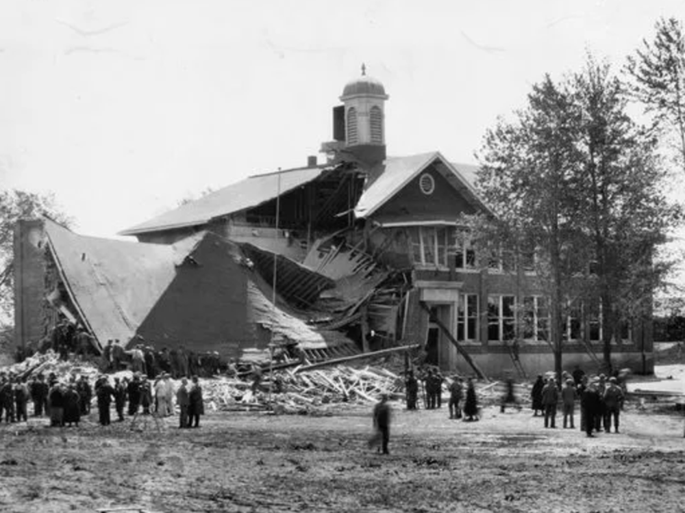 Another Shot of Bath Consolodated School After Bombing