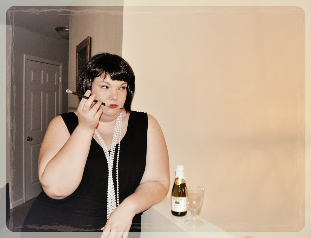 Posing at my sister's 1920's-themed Bachelorette Party :)