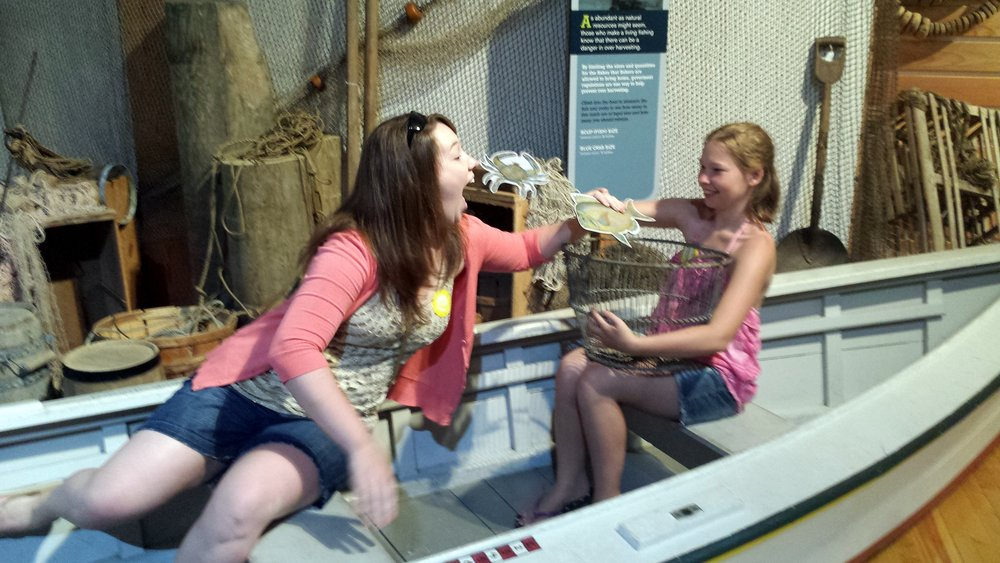 Exhibits are very interactive! Crazy sisters :)
