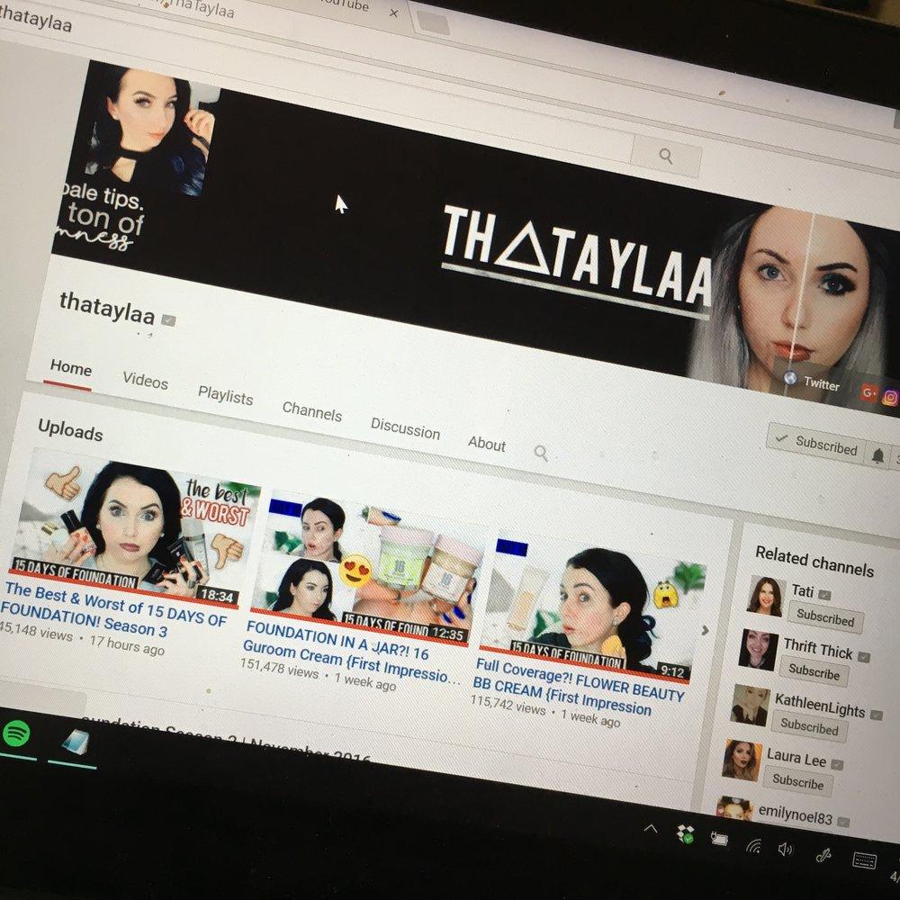 Thataylaa's Youtube Page.