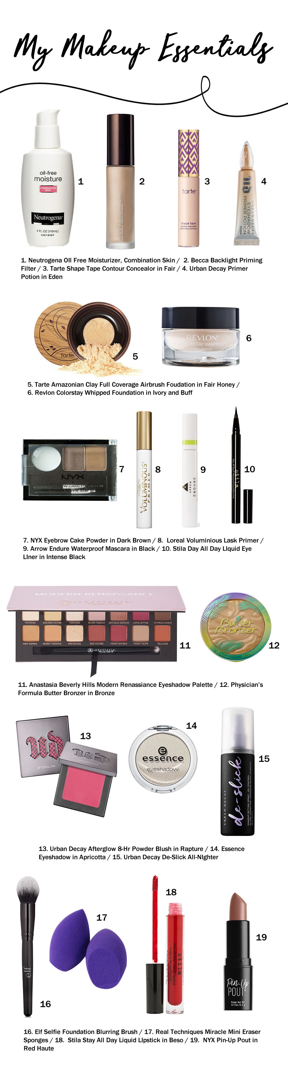 my makeup essentials a cheerful life blog