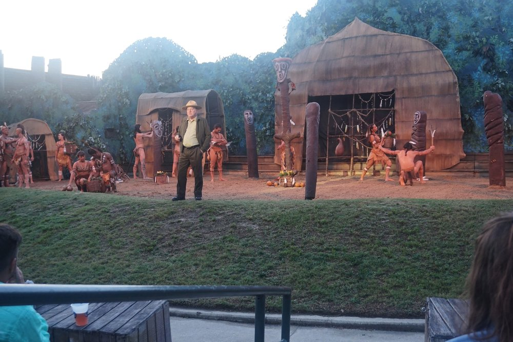 The Lost Colony Play. I was able to catch at least one picture without using the flash, which was banned.