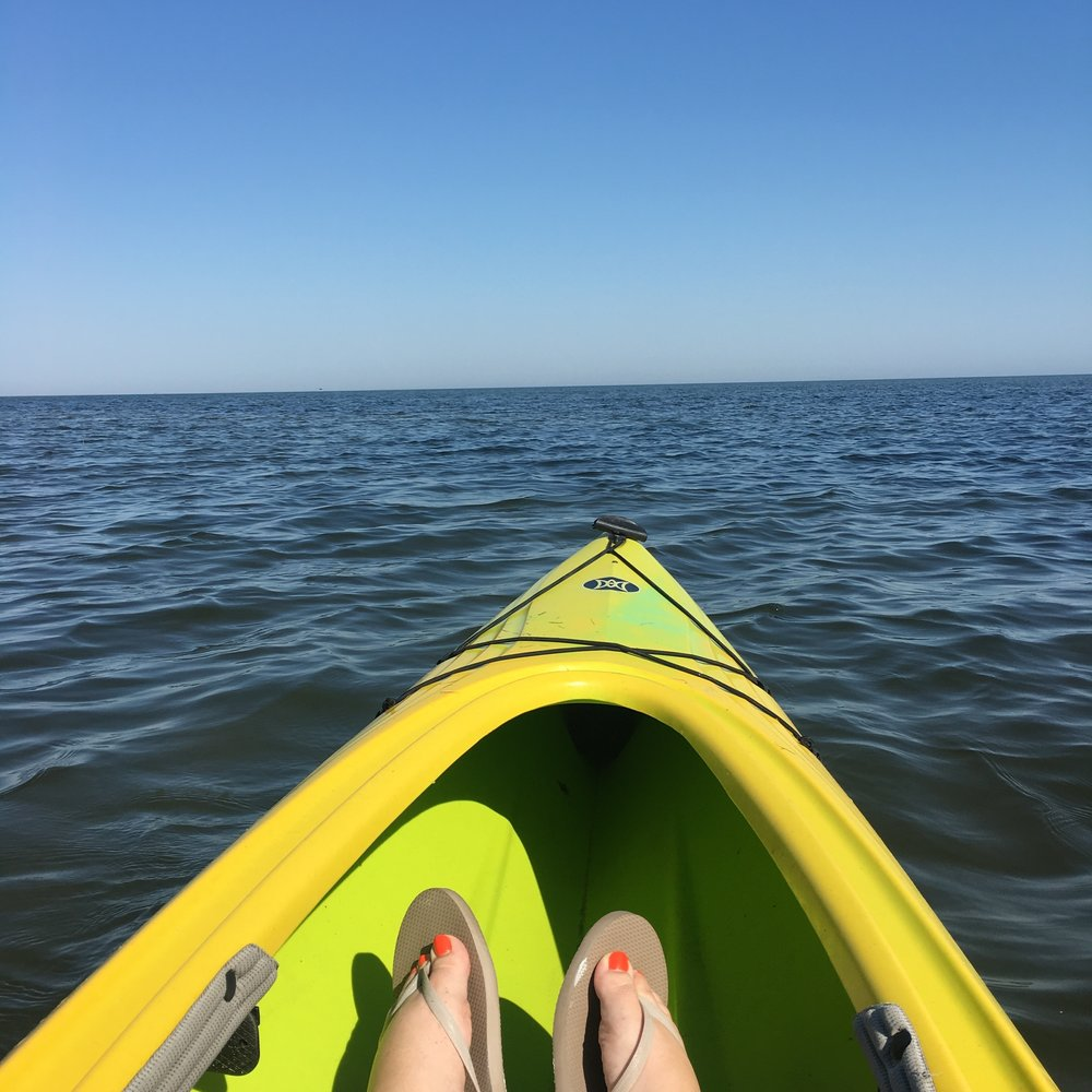 My view from the kayak.
