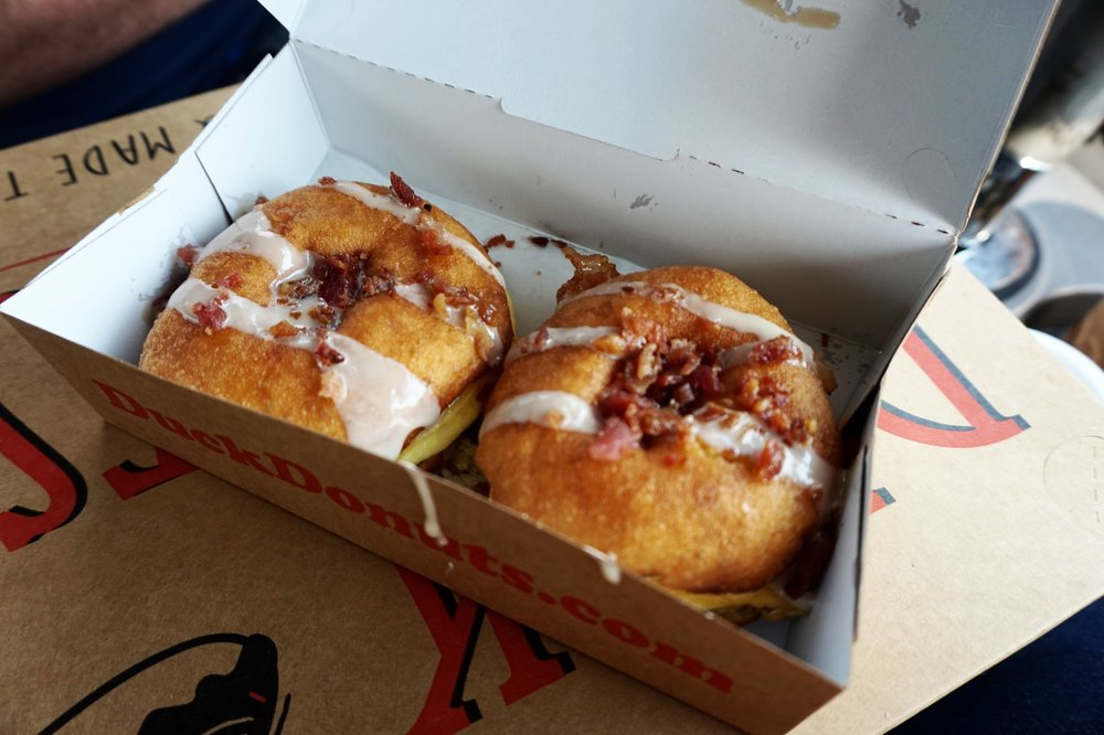 Bacon Donut Breakfast Sandwich from Duck Donuts