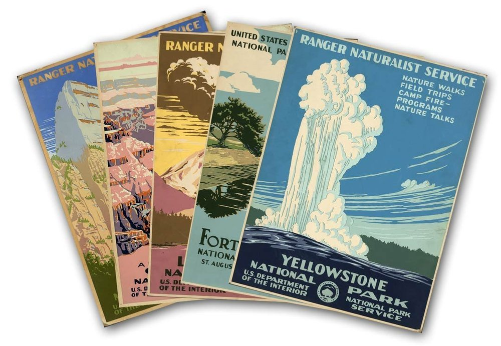 national park vintage posters modern vintage a cheerful life blog