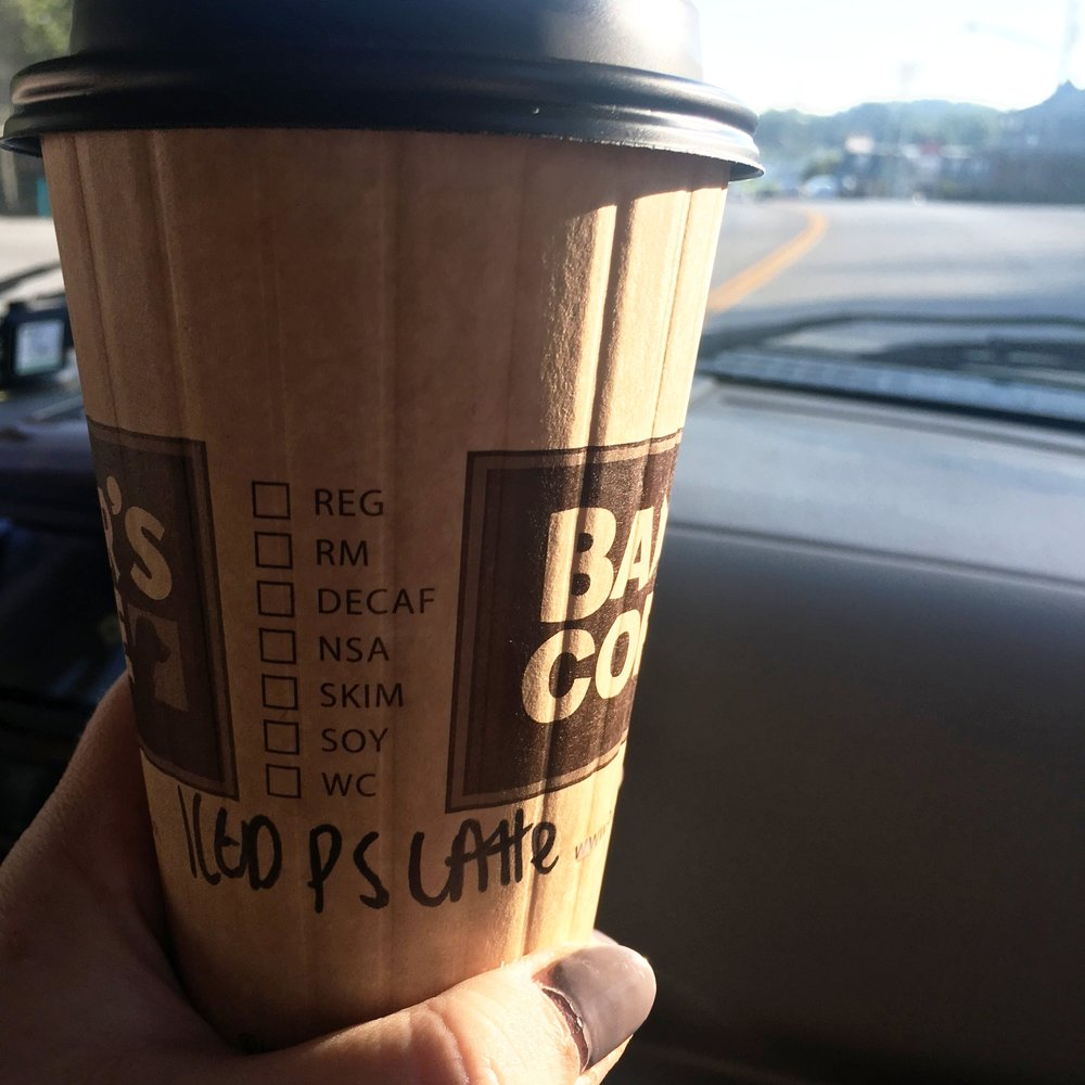 I wanted a warm pumpkin spice latte, but when it's 90 degrees outside, you go for the iced. In a paper cup, please :)