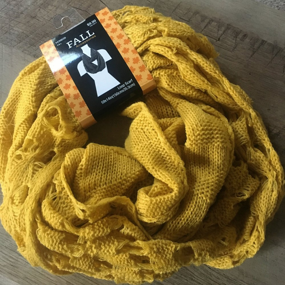 fall loop scarf  - Mustard colored!!! Can't wait to wear this! $9.99 [40% off]