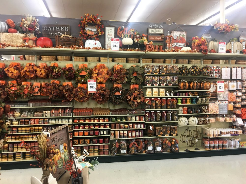 Just one of many aisles of fall goodness, 40% at Hobby Lobby!