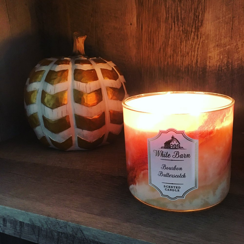 bourbon butterscotch white barn candle