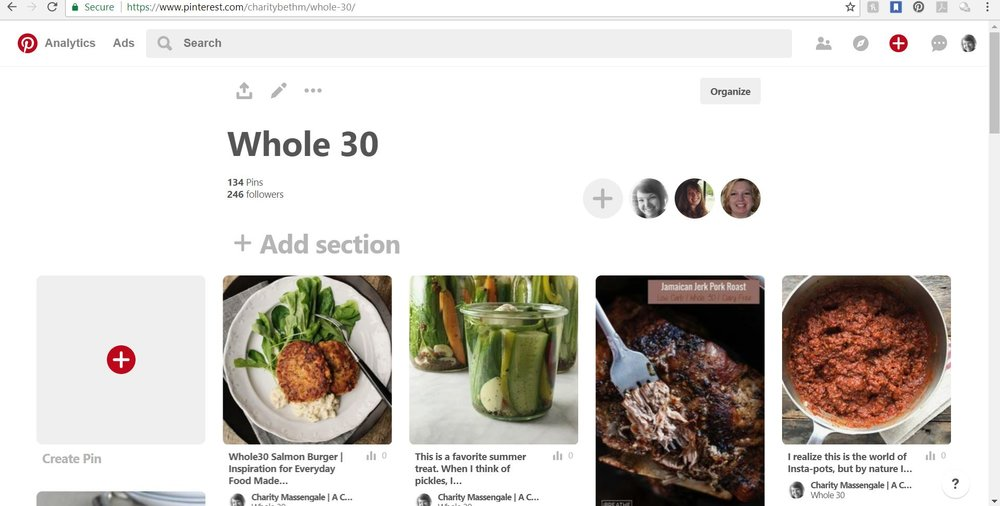 Need Whole30 Recipes?  - Check out this Pinterest board that was created by my Mom, my sister and myself with great Whole30 approved recipes!
