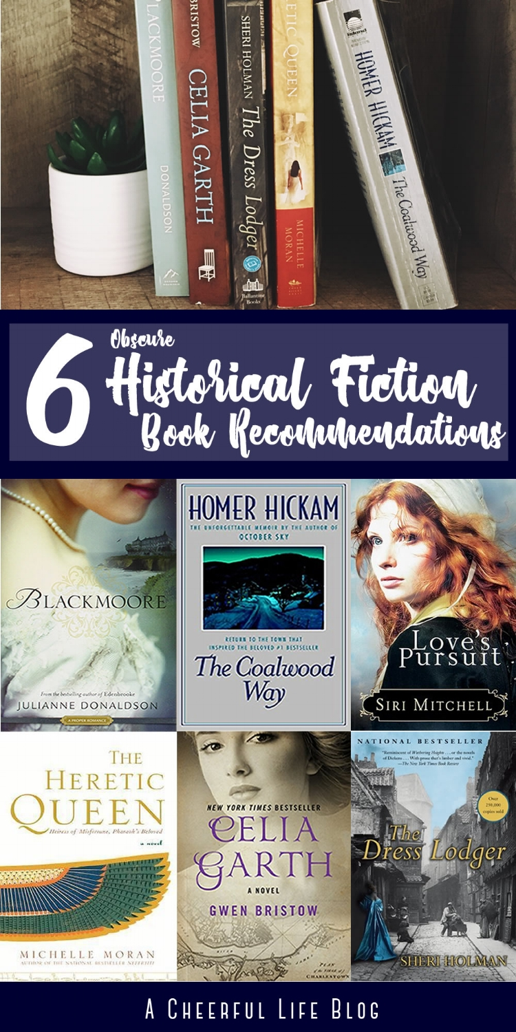 6 Obscure Historical Fiction Book Recommendations (Info) | A Cheerful Life Blog