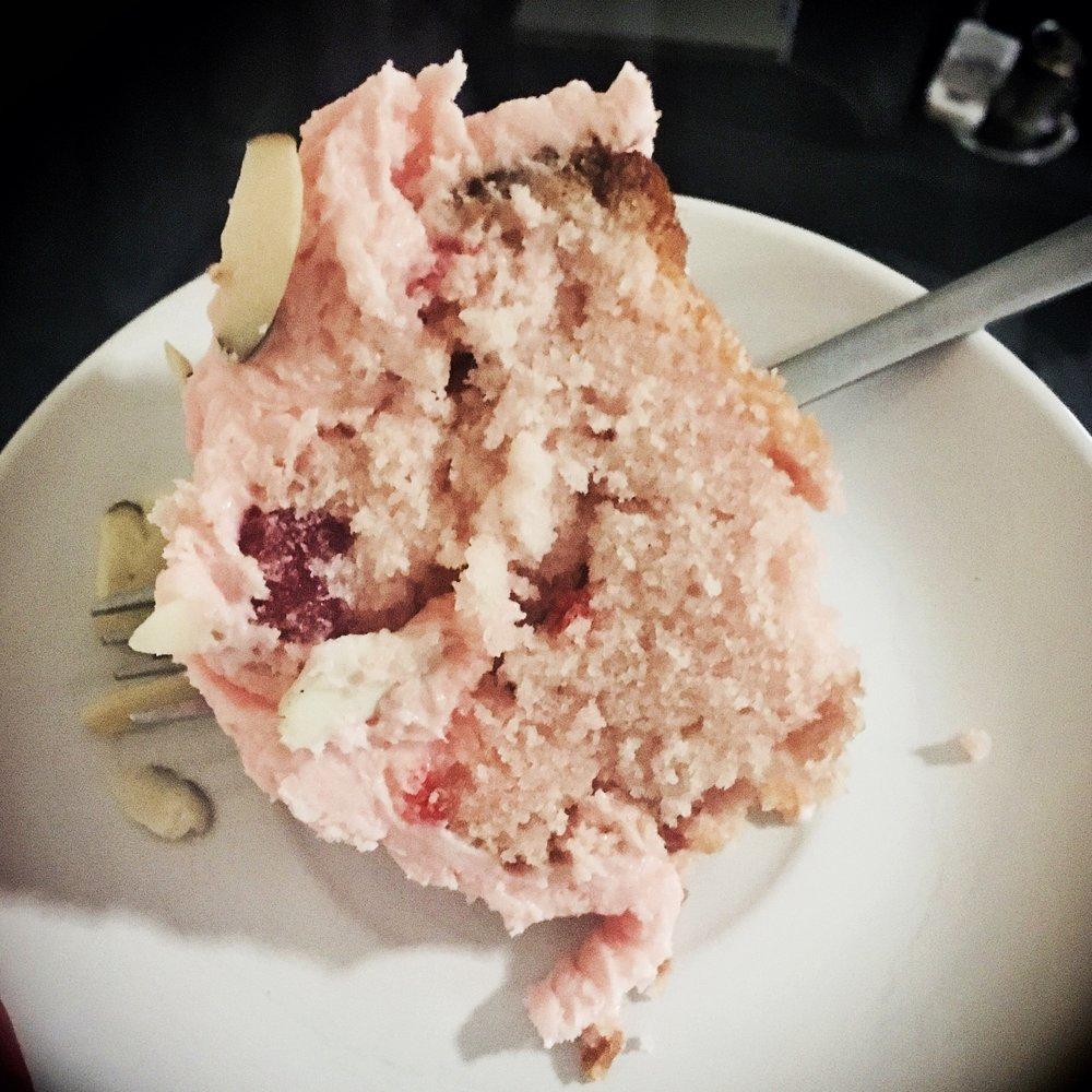 Made A Cherry Almond Cake