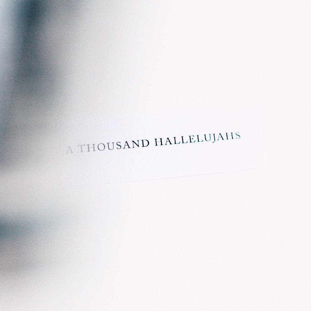 A Thousand Hallelujahs - Chord Charts